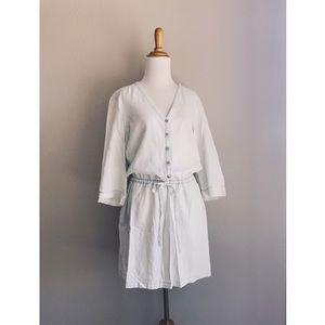 Light Wash Chambray Mini Dress